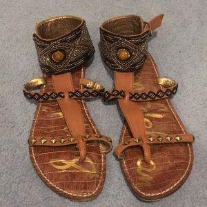 Sam Edelman Beaded Ankle Cuff Sandals